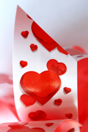 Detail Romance Love Red Ribbon Romantic Valentine Valentine Day Bookcover Close-up Gift Heart Shape Hearts Hearts Ribbon Love Gift Macro No People Passion Red