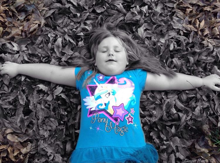 Autumn Leaves Falling My Daughter ♥ Bree My Love ❤ Playing Colorsplash