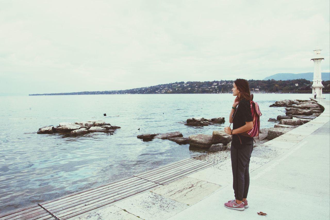 Switzerland Lake Geneve Taking Photos