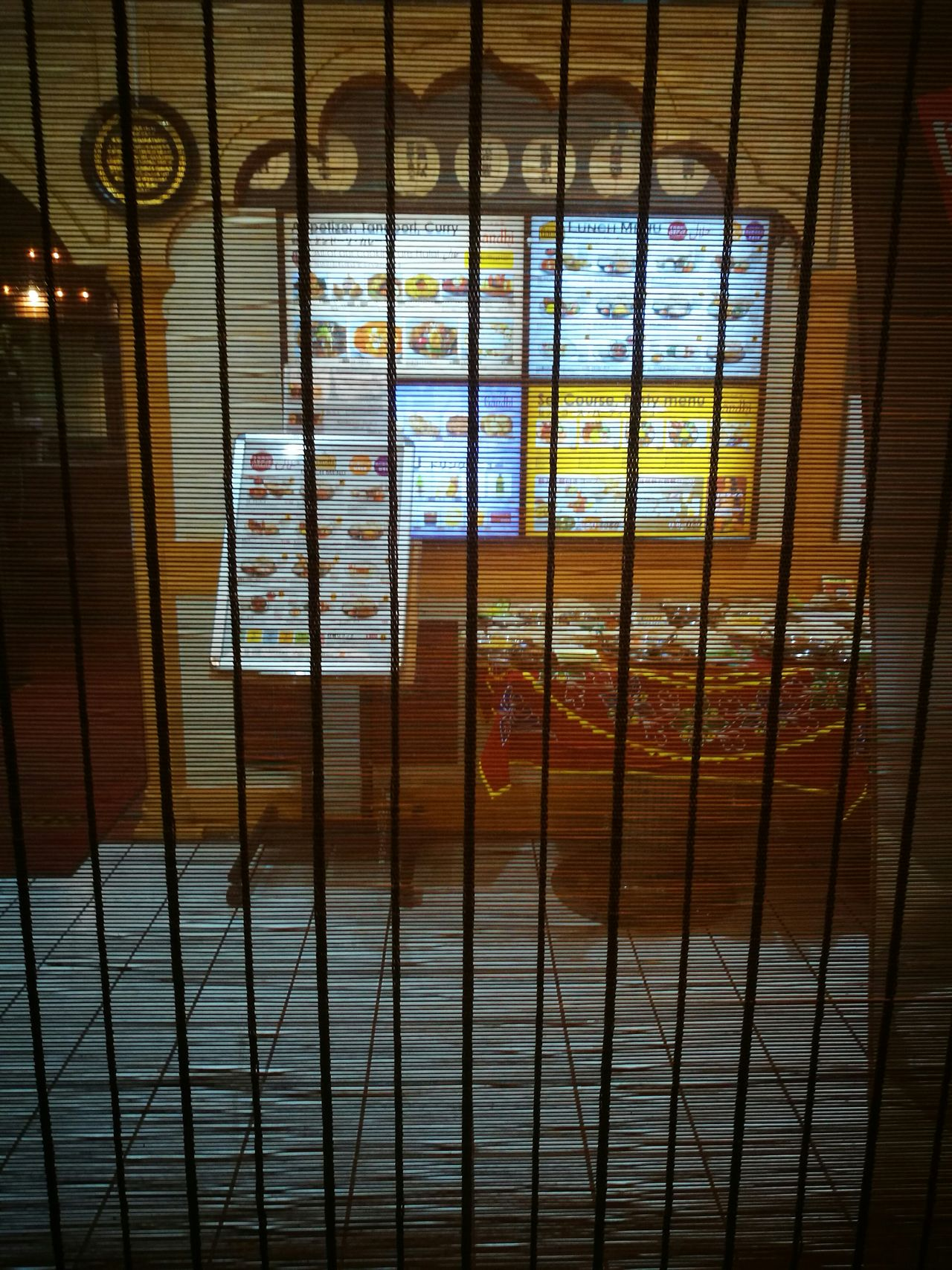 Indoors  Cage Curtain Blur No People Security Bar Confined Space Restaurant Japanese  Food Lamp Shade  Decoration Tasty