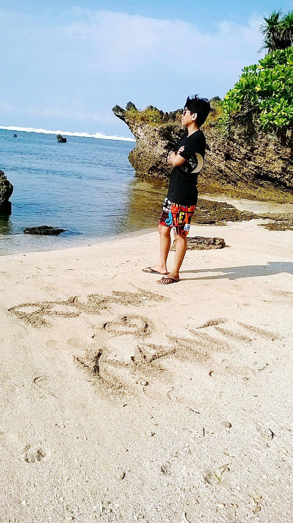 In Santolo Beach Garut Island Wonderful Day Great Performance - My Necklace Has Our Names On It ❤ SurtiKANTHIwibowo And RYANoztaryhardyansyass