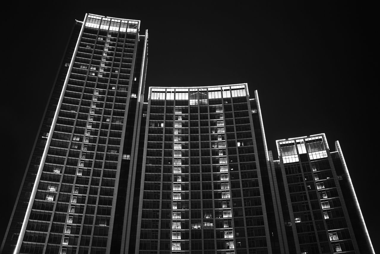 China Photos Tianjin Night Vision Buildings Travel Building Exterior Architecture Bnw_life Blackandwhite Built Structure Skyscraper Bnw Tall - High Low Angle View Modern Tower Office Building Development Building Story City Life Growth Travel Destinations Tall On The Boat Streamzoofamily