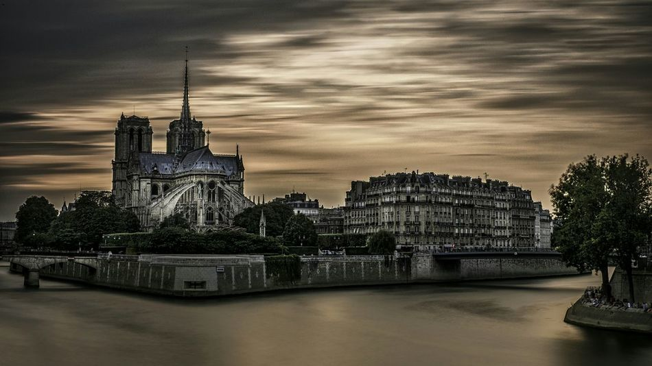 Cityscapes Cathedralenotredame Historical Monuments Clouds And Sky Riverside Longexposurephotography France Paris