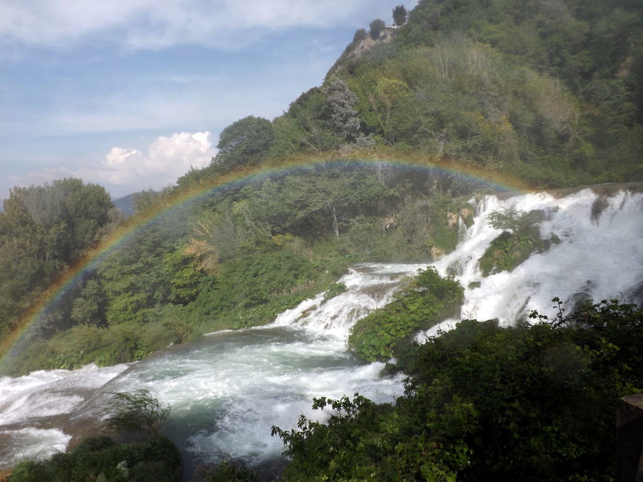 Arcobaleno  Beauty In Nature Clouds Forest Italia Italy Landscape Marmore Motion Mountain Nature No People Outdoors Power In Nature Rainbow River Scenics Tranquil Scene Tree Umbria Water Waterfall