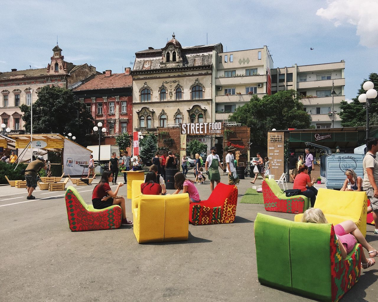 Urban relaxation... Architecture Real People Lifestyles Travel Destinations Sitting City People Outdoors Summer City Life Details Of My Life VSCO Leisure Activity Cityscape Street Made In Romania Enjoying Life Festival Street Fashion European Union Europe Socializing Relaxing Urban Street Life