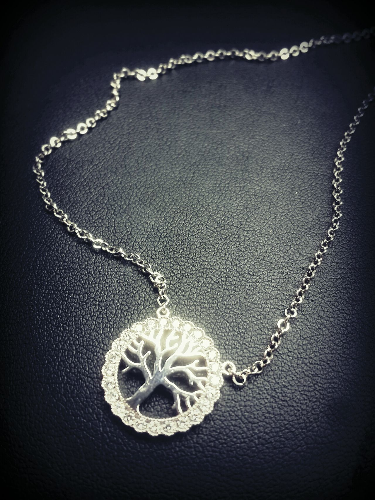 Necklace Jewellery Tree Symbol White Gold Adoration Adorn