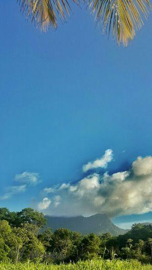 Northern Range Trinidad. Mountains Traveling Travel Clouds Sky Caribbean Fun