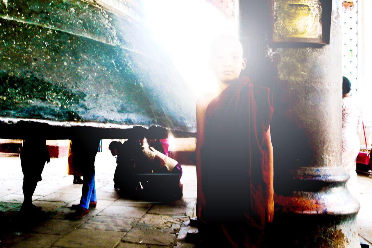 ©mke/03.2016 Sunlight Spirituality Indoors  Full Frame Leicacamera Leica Lens Leica D-Lux Mke's Photographic's Myanmar Mandalay Boy Bell Monk  Buddhist Monks Buddhist Temple Buddhist Monk Enlightenment Appearance Sacrosent My Year My View