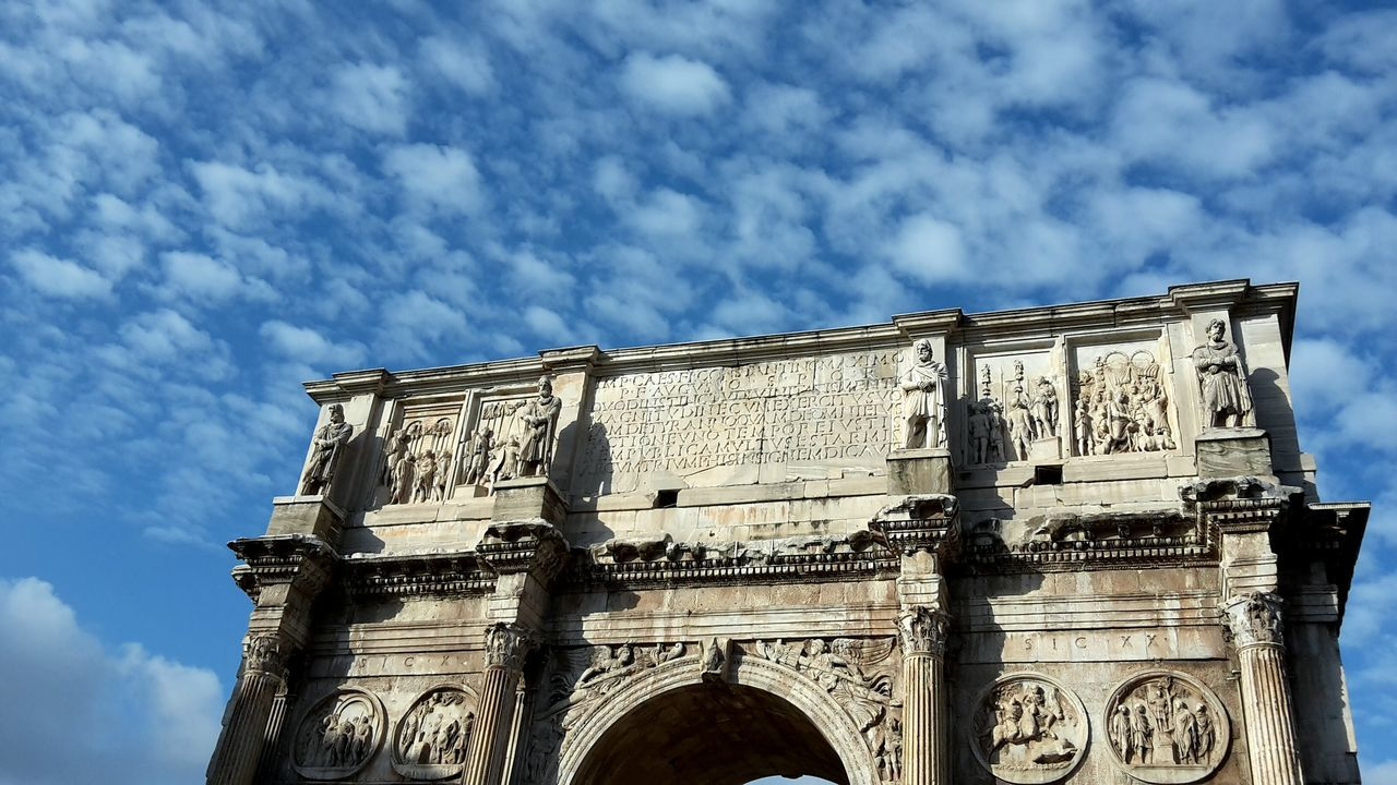 The Eternal City and the Sky. Rome Italy Architecture Monument Triumph Arch Simplicity Looking Up Seeing The Sights