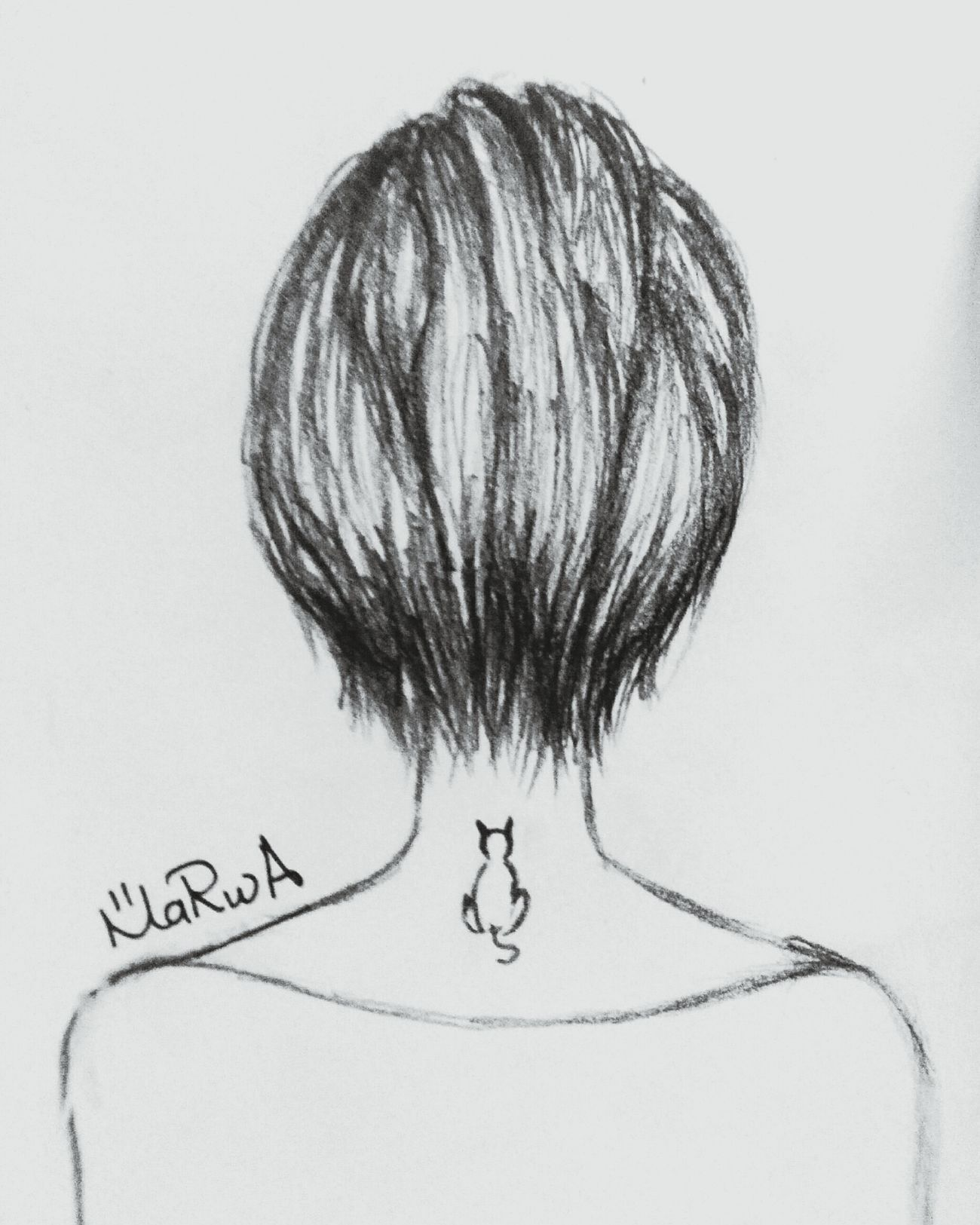 My drawing Hair Girl Hairstyle Drawing Sketching First Eyeem Photo