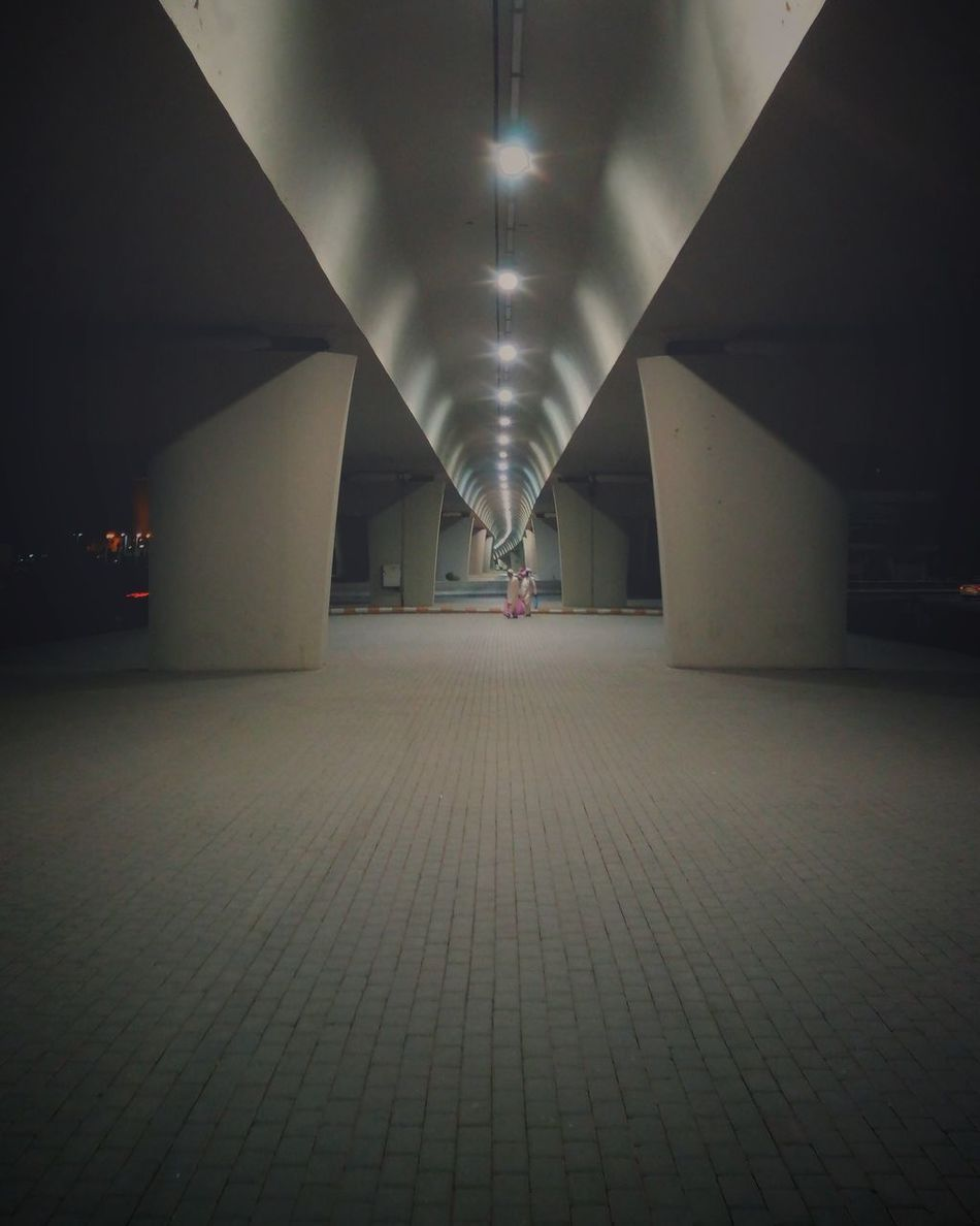 Illuminated Indoors  Architecture Built Structure No People Symmetry Night City