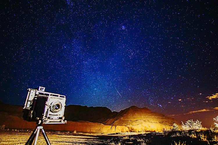 Falling Star Meteor Presscamera Speedgraphic Vintage Camera Nightscape Astrophotography Astronomy Perseid Meteor Shower Perseid2016 Starscape