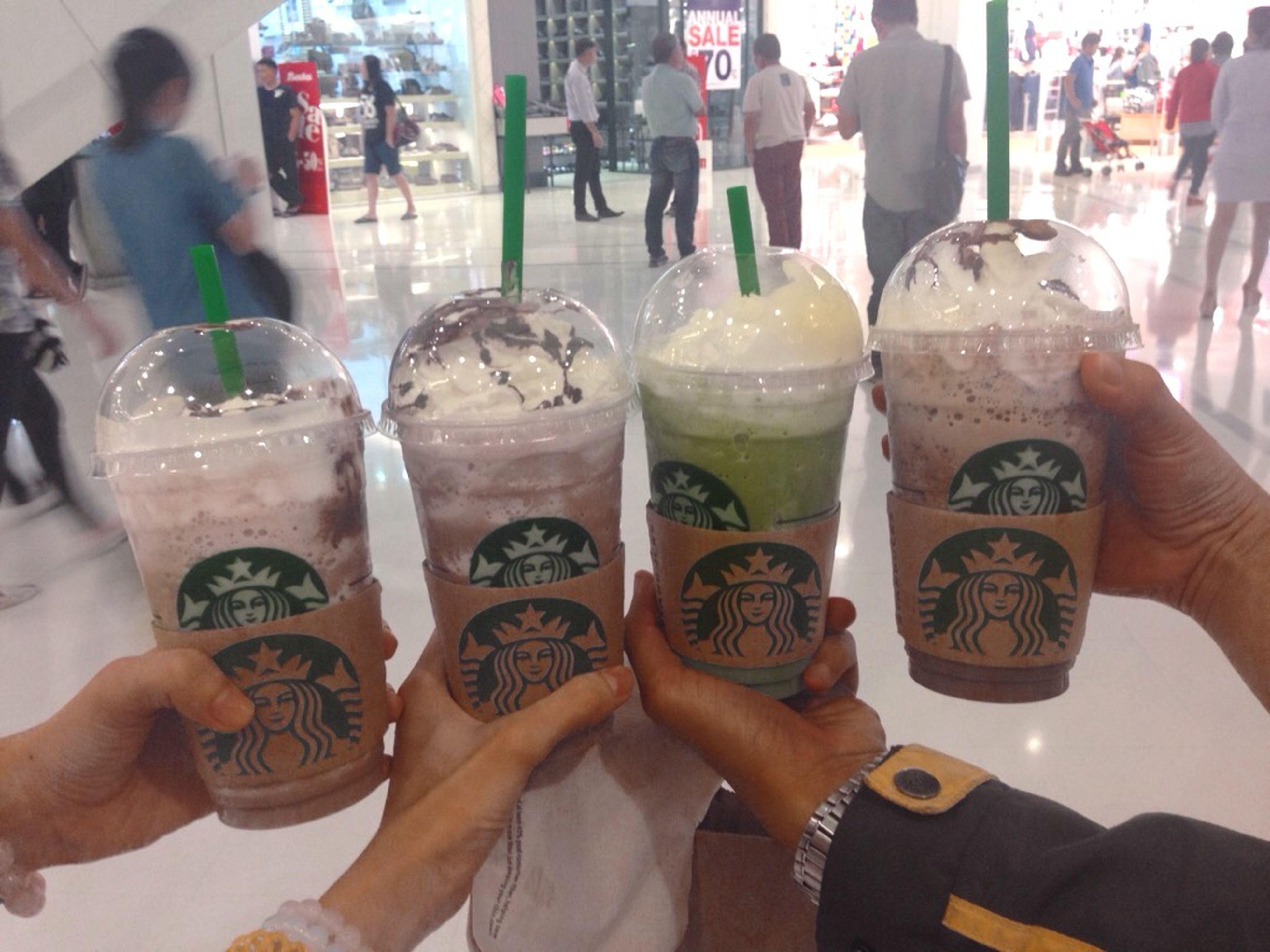 Starbucks Enjoying Life Mcafetime Khonkaen Cafe Time Starbucksthailand Javachipfrappucino Greenteafrappuccino Chocolatecreamfrappucino