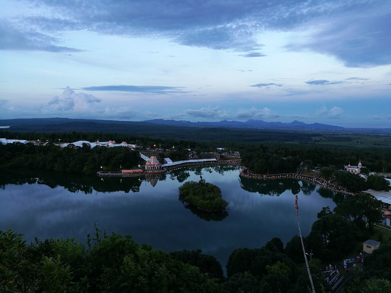 Ganga_Talao Reflection Blue Sky Prayer Shiva Temple Landscape Water Beauty Tranquility Cloud - Sky Nature Outdoors Night