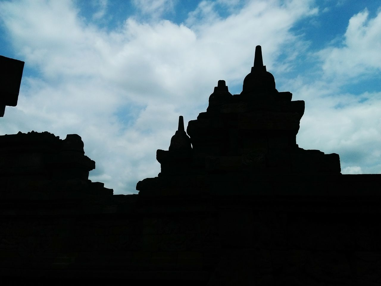 Shadows of Borobudur Temple :) Travel Destinations Cloud - Sky Tourism Outdoors Borobudur Temple, Indonesia Architecture Sky Day Travel Trip Photos Sky And Clouds Skyline Sky Porn Temple Architecture Beautiful Silhouette Silouette & Sky Silhoutte Photography Taken by me.