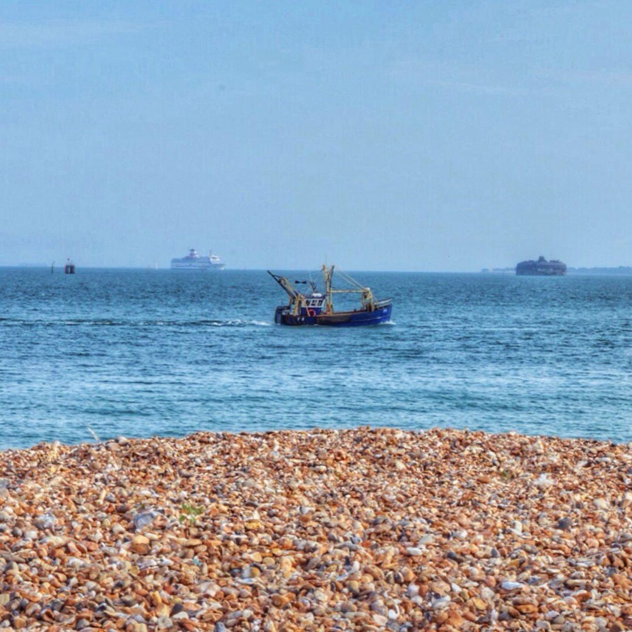 Fishing Boat Seascape Seaside Beach Pebbles Tadaa Community Shot With Love