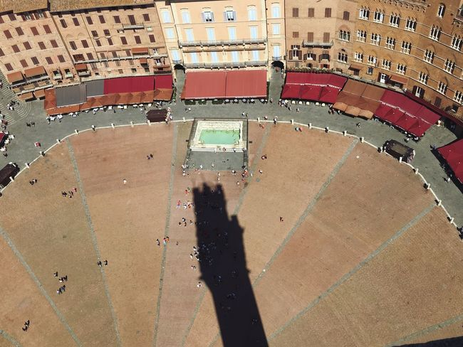 A Bird's Eye View Siena Italy Piazza Del Campo