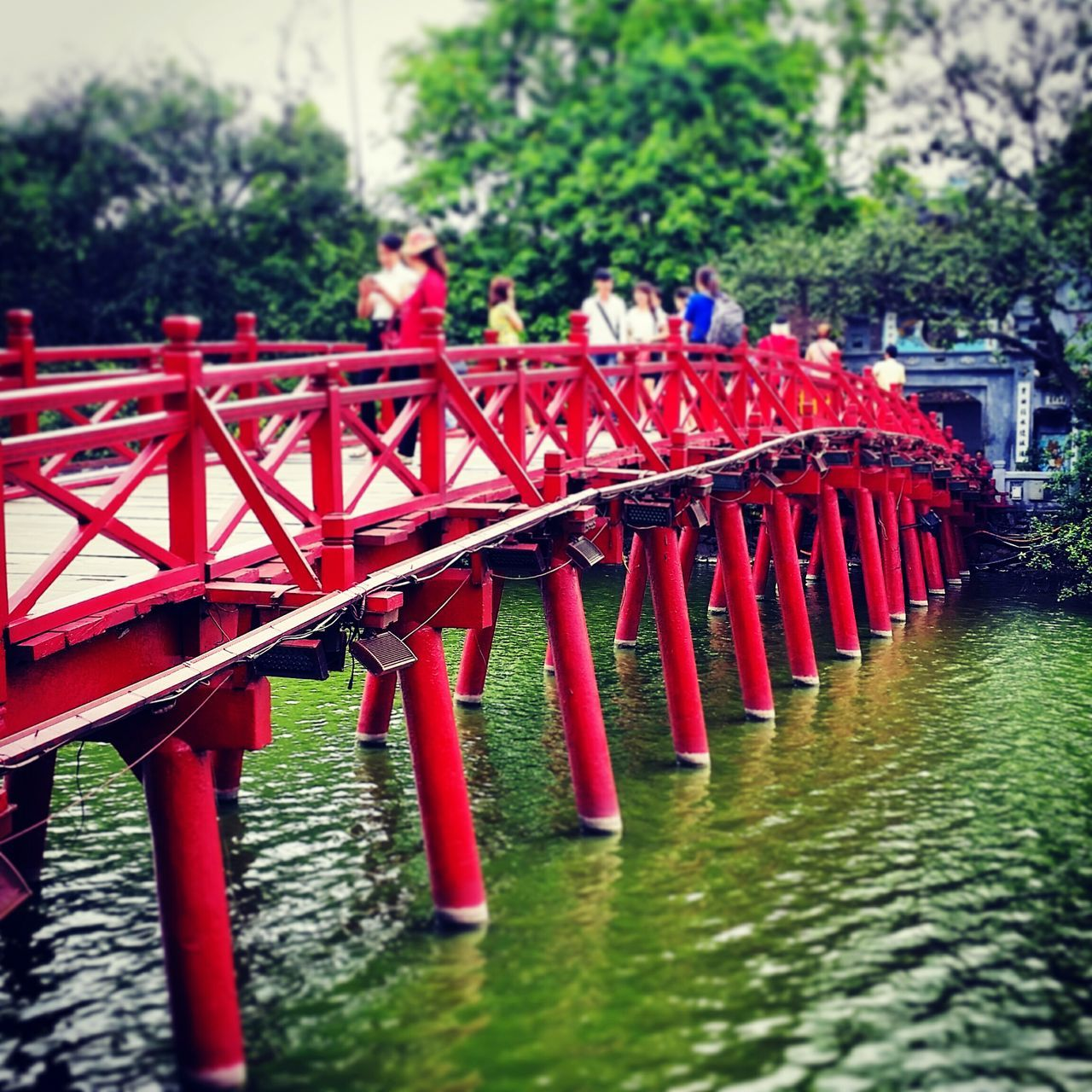 Red Bridge - Man Made Structure Water Tree Nature Vietnamphotography Architecture Travel Destinations Wonderful_places Travelgirl