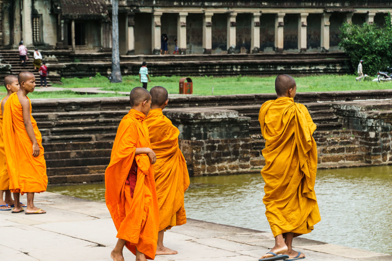 Children Lifestyles Monks Orange People People Together Showcase August Spirituality Temple Travelling Snap a Stranger Neighborhood Map