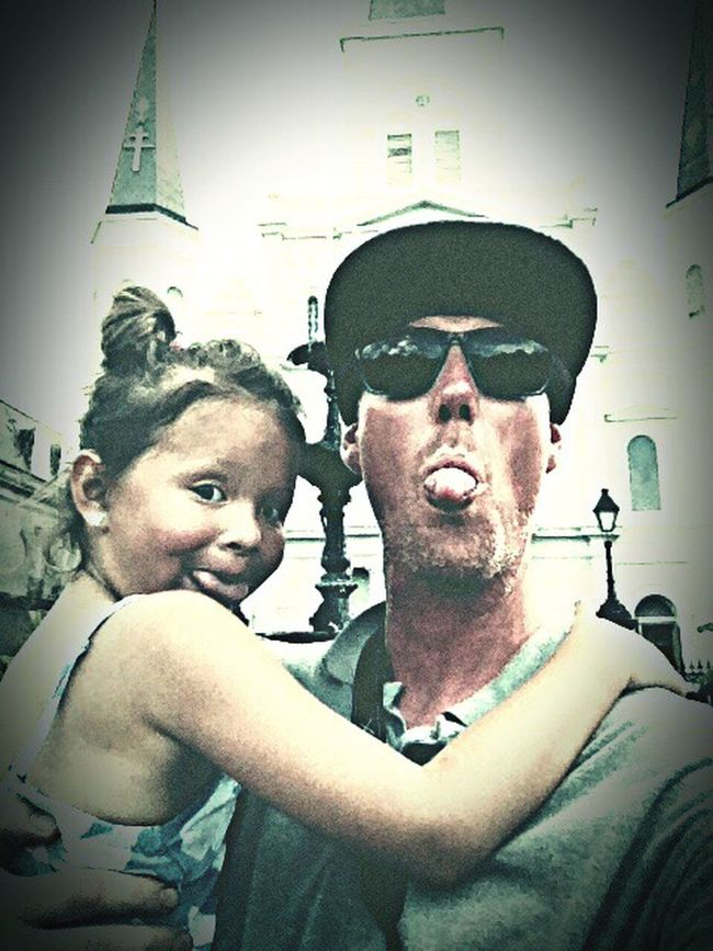 Fatherhood Moments New Orleans Love Jackson Square Babygirl Architecture Looking At Camera Headshot Looking At Camera