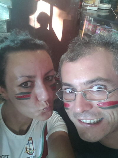Portugal antes do jogo a torcer por Portugal! !!! That's Me Hello World