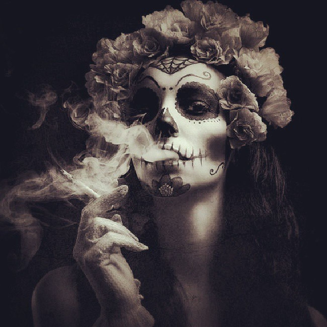 My idea for Halloween! Airbrushed Pretty Dayofthedead