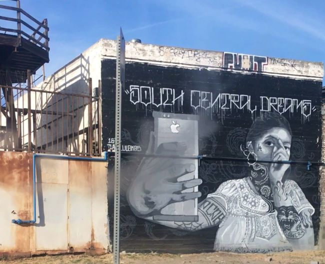 South Central Dreams Text Graffiti Creativity Street Art Streetphotography Check This Out Blackandwhite