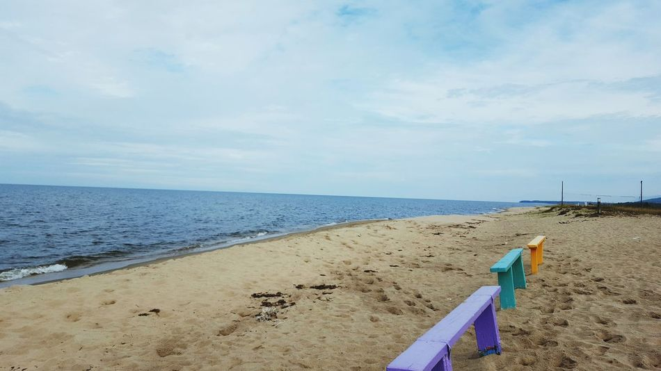 Horizon Over Water Sea Water Beach Sand Beauty In Nature Outdoors Baikal.Russia.Siberia.my Motherland Baikal Baikal Russia Inspirations Beauty In Nature Just Taking Photos Life Day No People Hello World