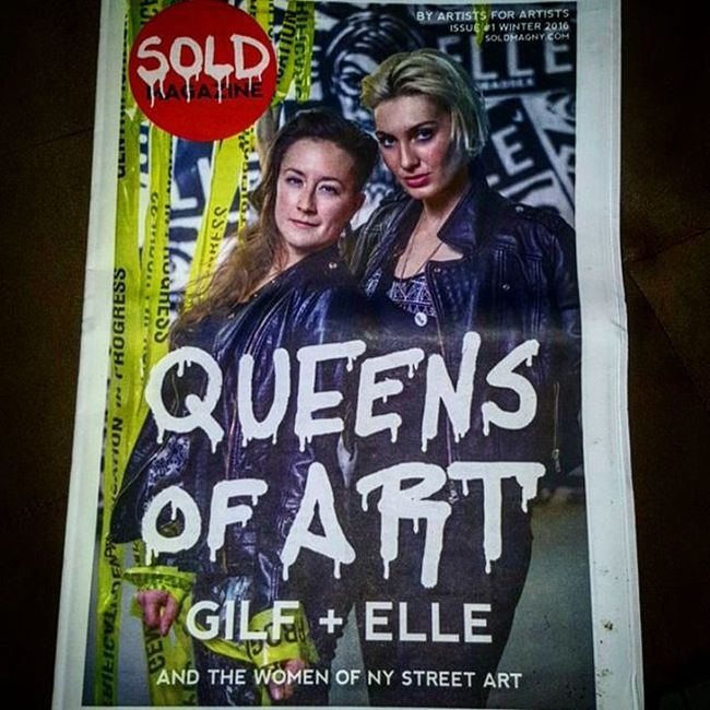 @soldmag Got so much love for this Magazine & can't wait for the future of this. Love the movement : By Artists for Artists! 1st Issue of Sold Magazine dedicated to the Women of NY StreetArt ! Thx to the editors @jpoart @gregfrederick @bd_white . Soldmagazine Streetart Streetartists StreetArtNYC Streetartsavedmylife Womenofstreetart Nystreetart Art Byartistsforartists Queensofart Elle Gilfnyc Bdwhite Gregfrederick Jpoart Magazine 1stissue
