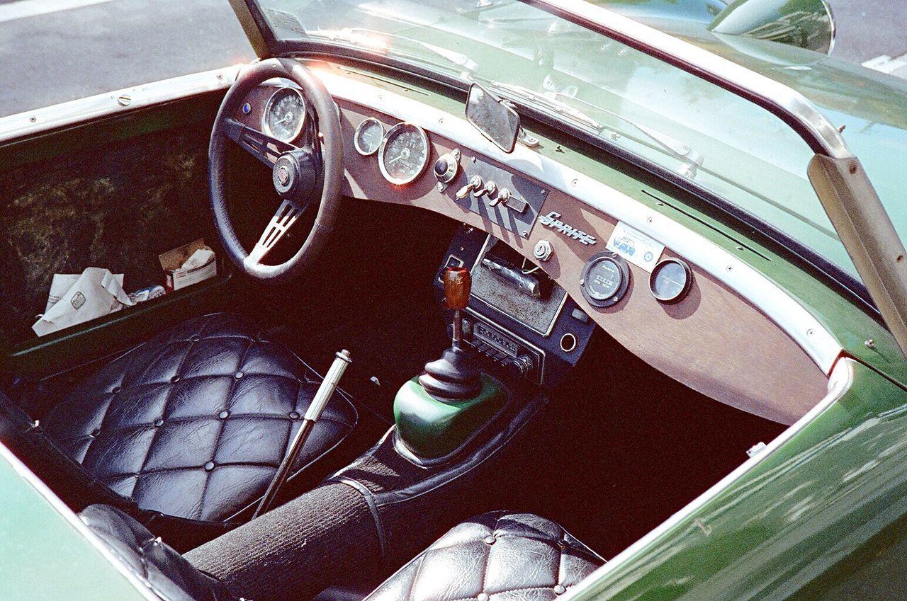 Classic Car Convertible Vehicle Interior Car Interior Car Bucket Seat Steering Wheel Dashboard Close-up Cockpit Film Photography Koduckgirl Film