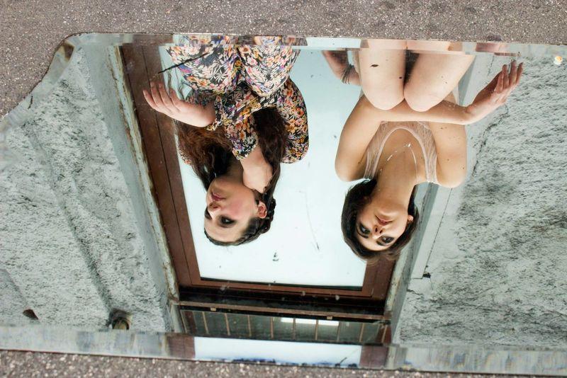 Mirror Girls Riflection