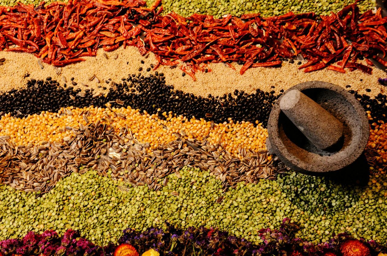 High Angle View Spices Collection Spicesporn Spices, Cooking, Cups, Bowls Spicesofmexico Chile De Arbol Maiz Frijol Lentejas Cooking Kitchen Kitchen Knife Kitchen Stories Kitchen Art Colors On My Table Food And Drink Foodporn Leguminosa Green Nature, EyeEm Selects MexicanTradition Legumbres Leguminous Leguminosae Semillas