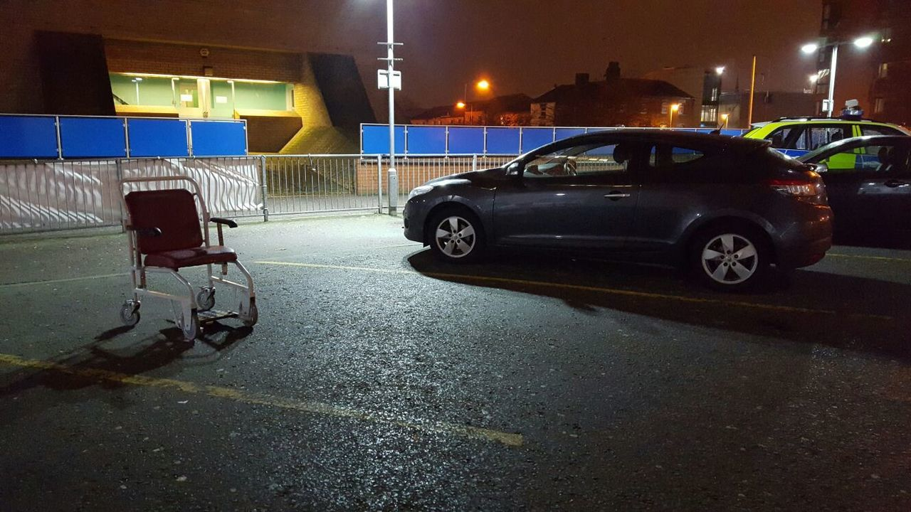 Nightphotography Nighttime City Life Night Photography Liverpool Urbanphotography Nightsky Darkness And Light Nofilter Nofilter#noedit Nofilternoedit Hospital Wheelchairpark Parking