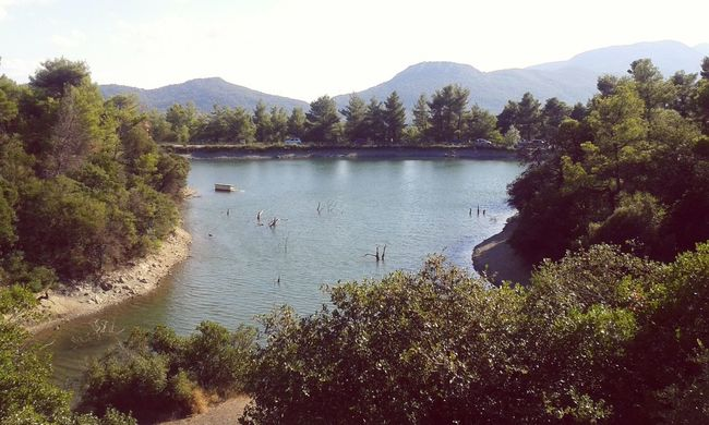 Lake Beautiful Day Lovely Weather Trees Greece Nature Mountains Landscape Parnitha