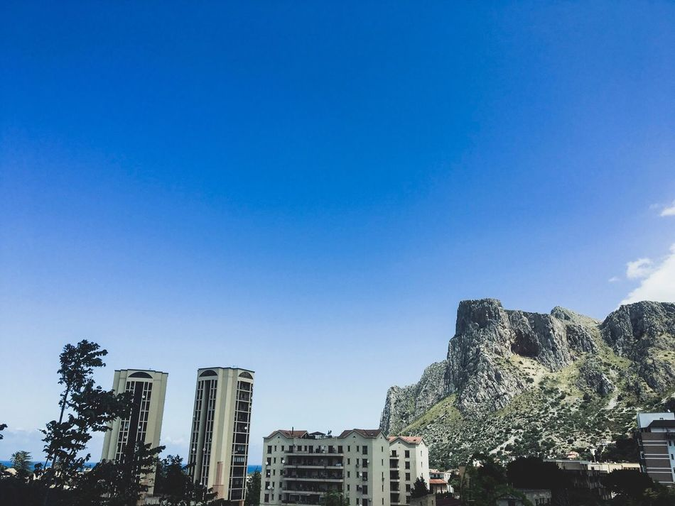 A29 Iluminated Landscape Building Exterior Good Morning Buongiorno OtherDay Other Time Blue Clear Sky Outdoors Tree Green Nature Brown Sky David De La Cruz City Day Architecture Sicily Sicilia Italia Italy