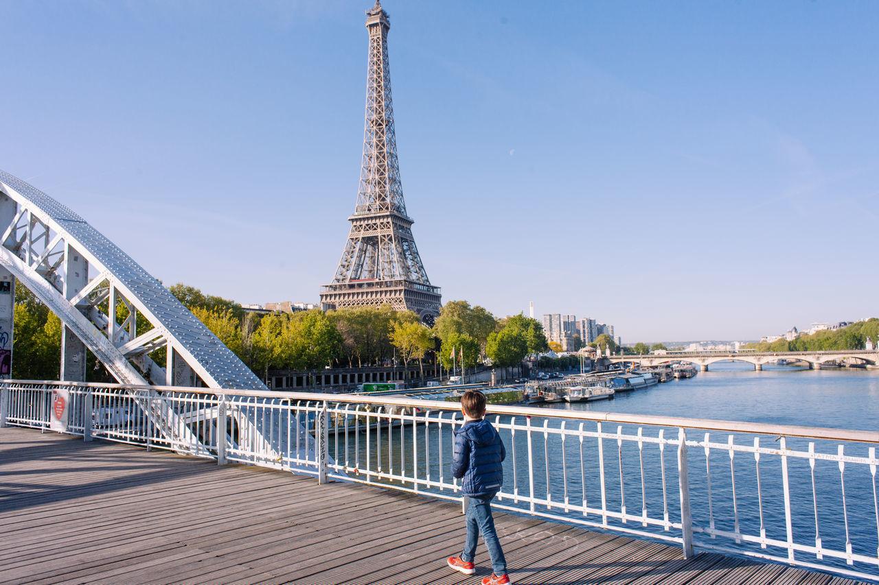 Paris morning walk Capital Cities  Eiffel France Neighborhood Map Paris River Seine Springtime