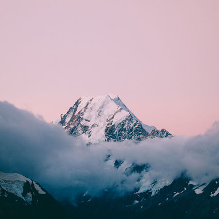 Clouds And Sky Enjoying Life Epic Exploring Hiking Mount Cook Mountains New Zealand Outdoors Pink Snow Summit Sunrise The Great Outdoors - 2015 EyeEm Awards Wallpaper