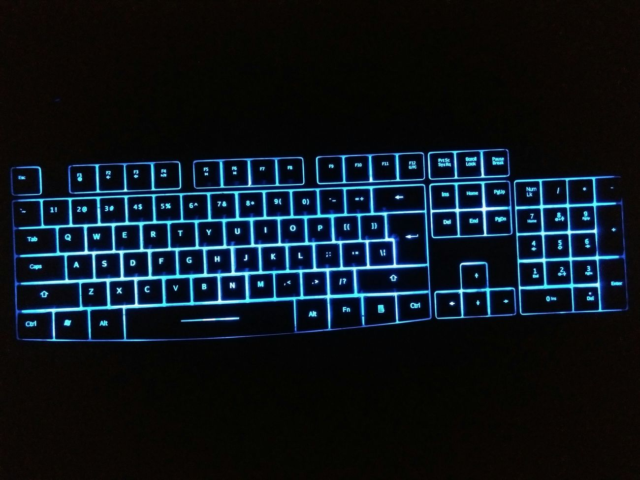 Technology LED Keyboard Backlit Qwerty Keyboard Computer Mobile Conversations