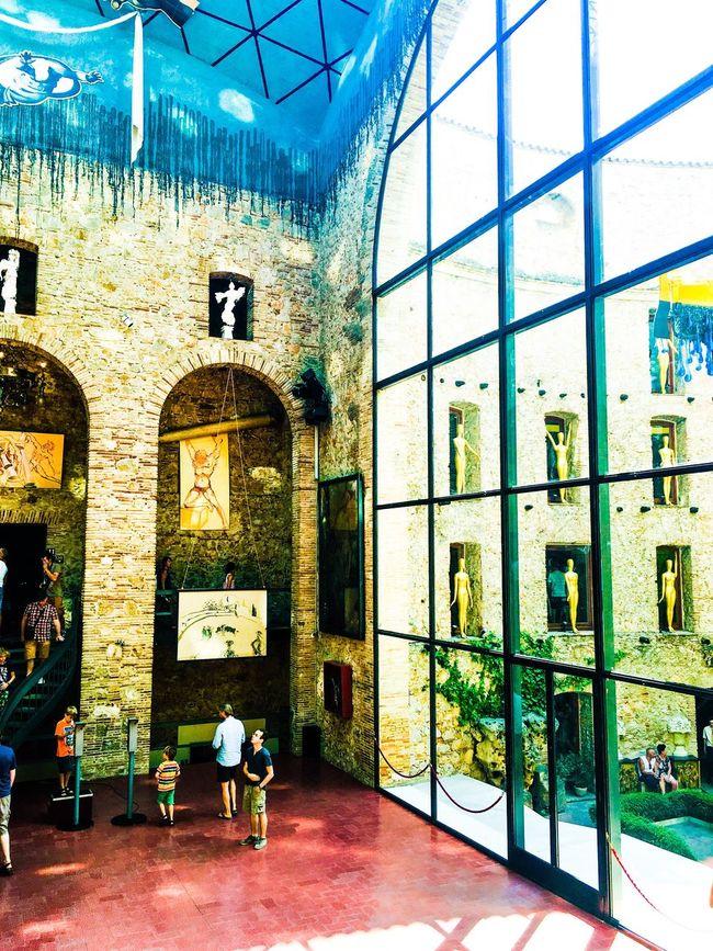 Architecture Theatre Museum Salvador Dali Modern Illuminated Color Abuse Colour Of Life Interior