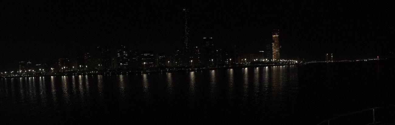 Abu Dhabi Corniche Abudhabi Boat Water Building Night Building Reflections Relaxing Moments