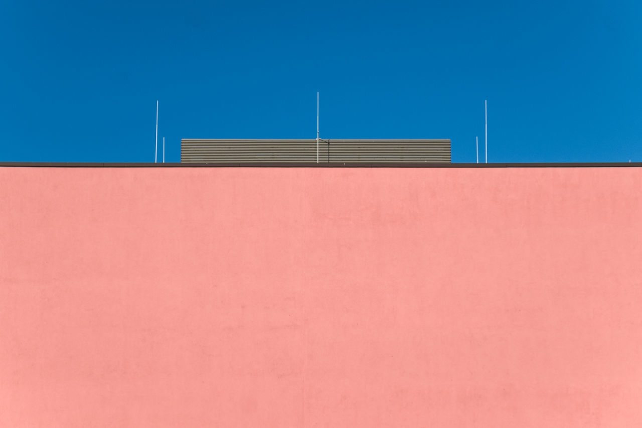 Sundaysimplicity Architectural Feature Architecture_collection Architecturelovers Berlin Berlin Photography Blue Building Exterior Built Structure Clear Sky Day Minimalism Minimalist Minimalist Architecture Minimalist Photography  Minimalistic Minimalobsession No People Outdoors Sky Millennial Pink The Architect - 2017 EyeEm Awards