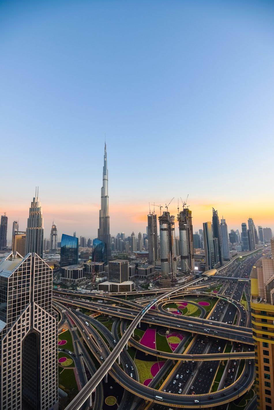 I've always loved the architecture of Dubai City Building Exterior Architecture Cityscape Dubai City Life Travel Destinations Urban Skyline Road Sunset Tower First Eyeem Photo The Secret Spaces