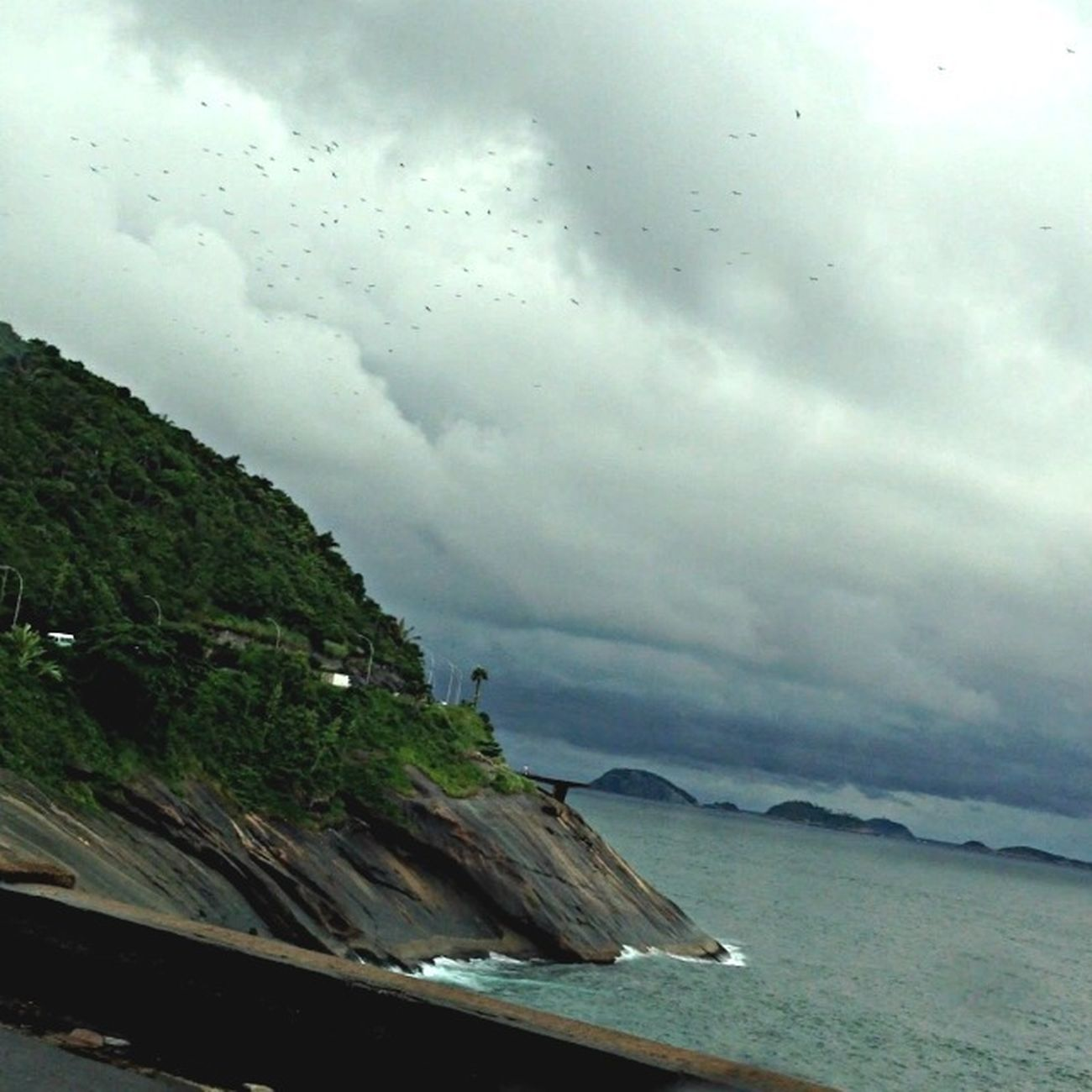 View In A Rainy Day In Rio