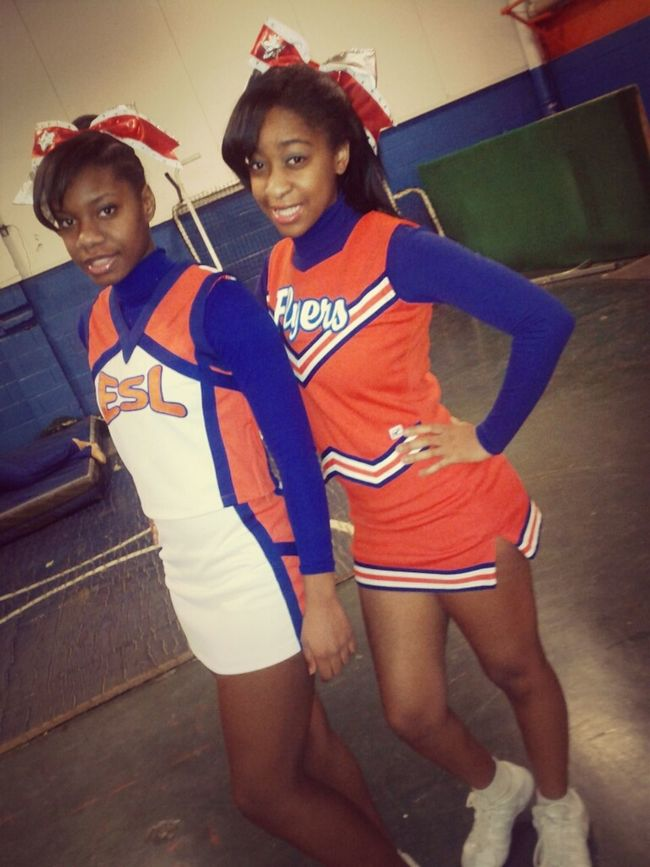 my 2 fav cheerbuddies <3
