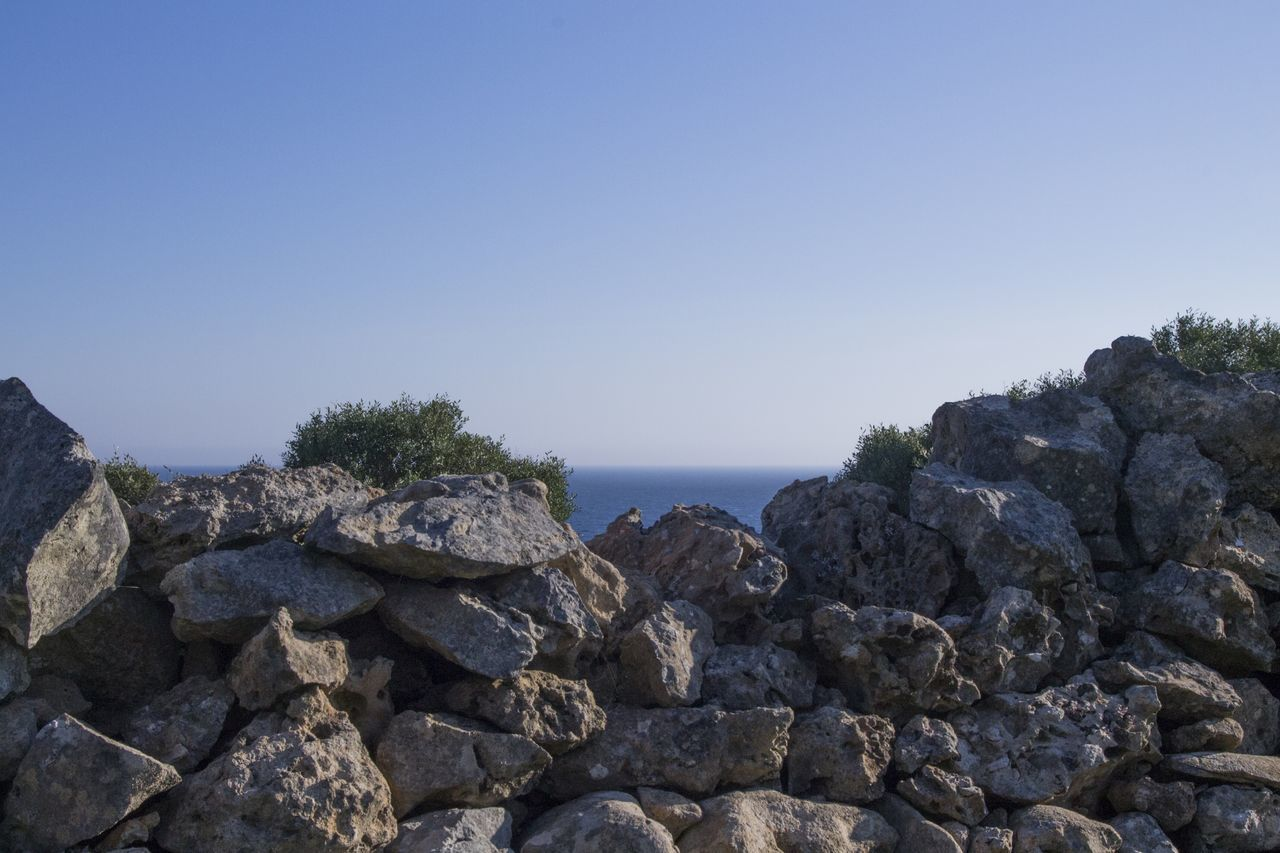 South Italy Salento Puglia South Nature Salento Porto Selvaggio Salento Sea Beach Rock - Object Sunny Outdoors Day Nature No People Clear Sky Sky Horizon Over Water Water Beauty In Nature