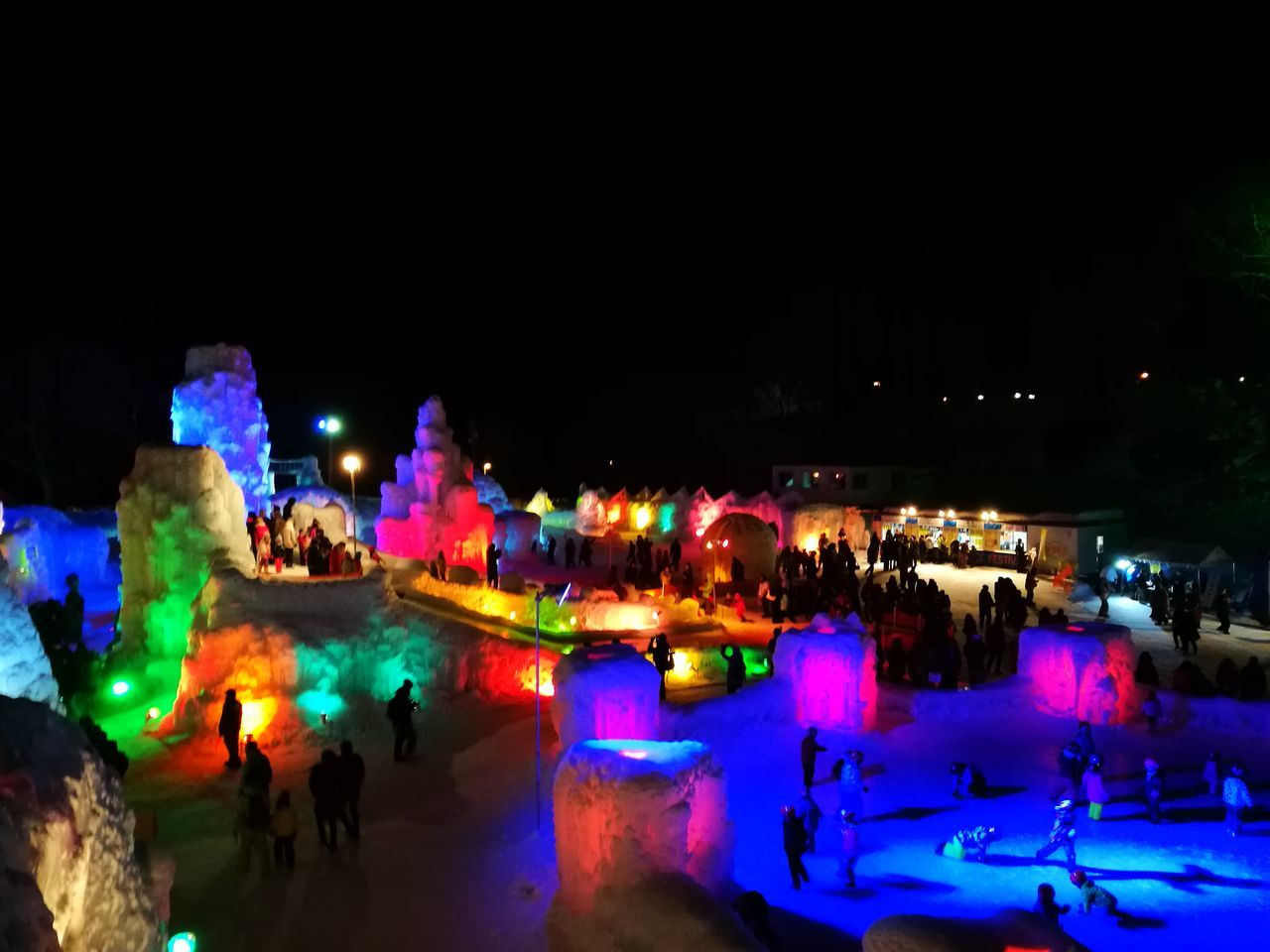 Night Illuminated Travel Destinations Large Group Of People Enjoyment Hokkaido,Japan Snow ❄ Shikotsuko Sapporo,Hokkaido,Japan shikotsuko Shikotsu Lake