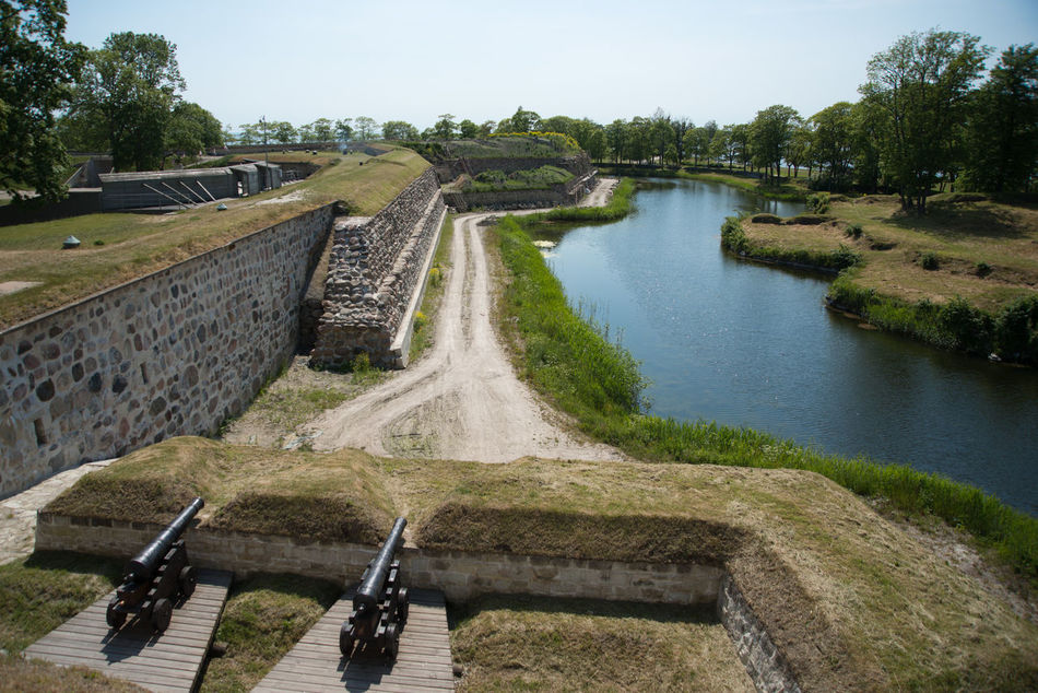 Kuressaare Episcopal Castle in Kuressaare, Saaremaa, Estonia https://en.wikipedia.org/wiki/Kuressaare_Castle Castle Episcopal Estonia Fortification Historical Building Historical Sights Medieval Architecture Medieval Fortifications In Liw No People Saaremaa Summer Sunny Teutonic Order