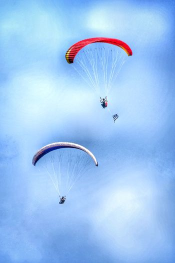 Mid-air Flying Parachute Extreme Sports Leisure Activity RISK Fun Sport Gliders Travel Photography