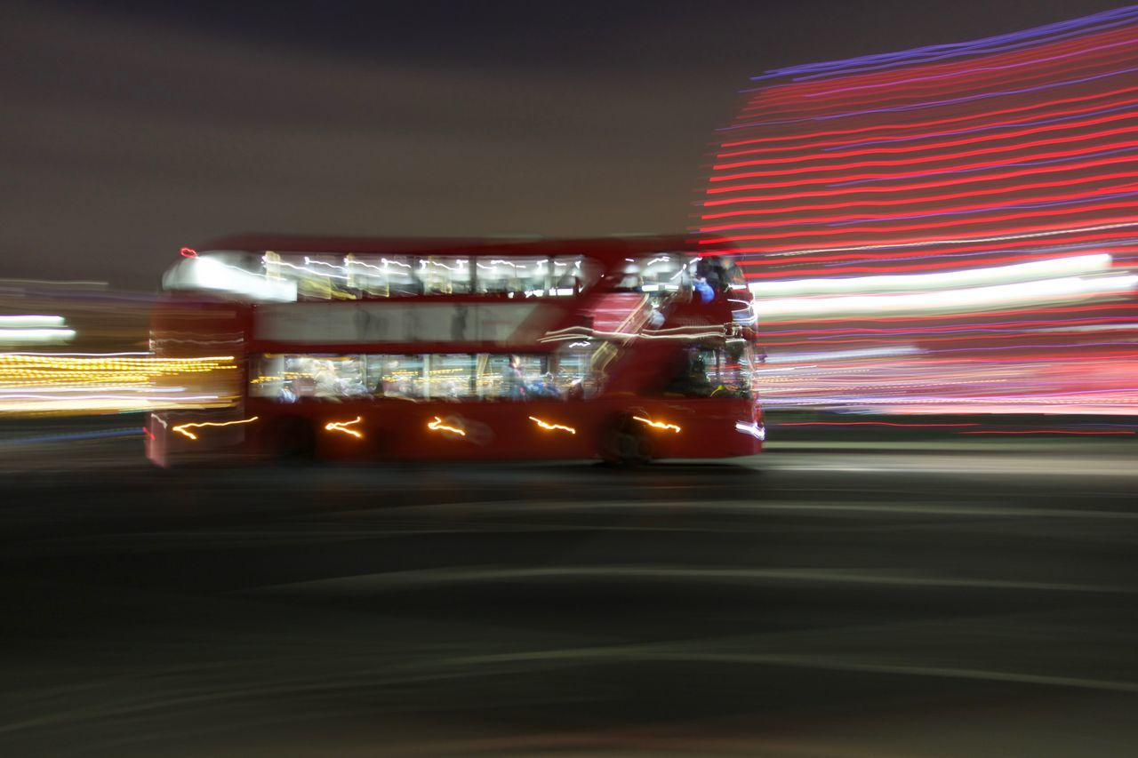 Red bus on westminster bridge Bus On Bridge Illuminated Land Vehicle London London Bus Night Red Bus Transportation