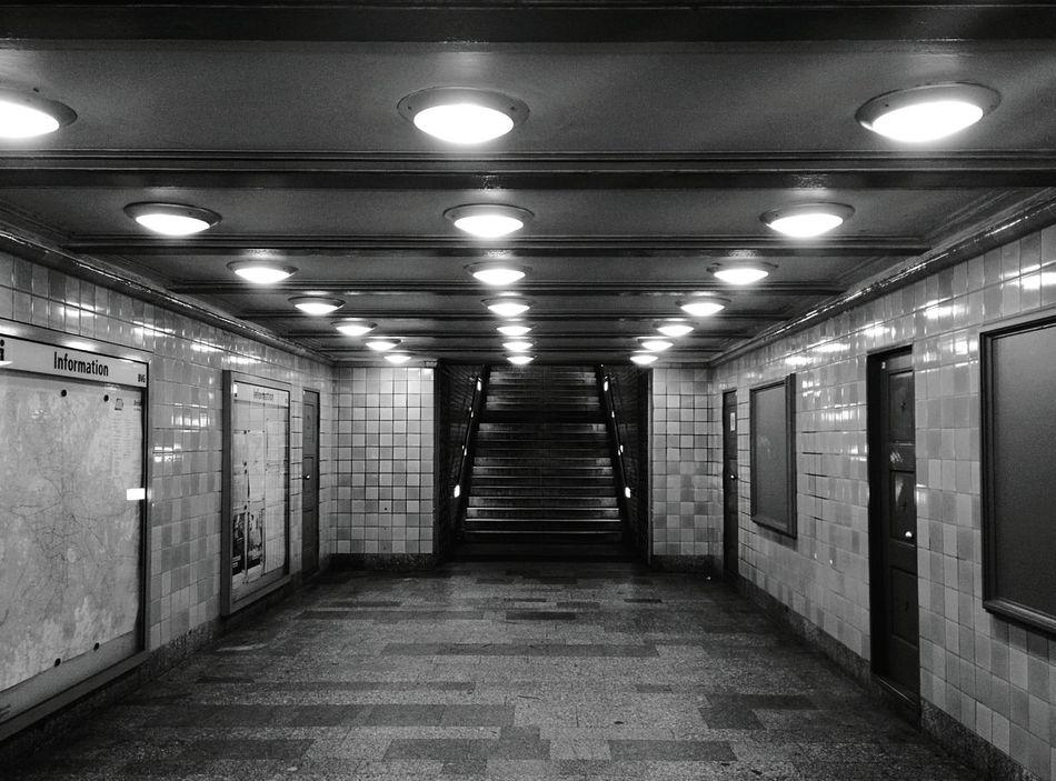 Day 360 - U-Bahn station at night Berlin Blackandwhite Public Transportation Monochrome Photography Ubahn 365project 365florianmski Day361